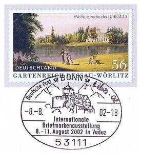 Intelligent Rfa 2002: Dessau Et Wörlitz! Autocollantes Nr 2277 Avec Cachet De Bonn! 1 A 1712-afficher Le Titre D'origine MatéRiaux Soigneusement SéLectionnéS