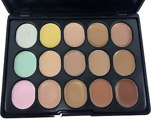 M.N PROFESSIONAL MAKEUP CONCEALER PALETTE CONTOUR CREAM 15 COLORS MAKEUP -15004-