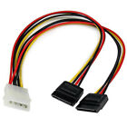 """StarTech Lp4 to 2x SATA Power Y Cable Adapter - 12"""""""