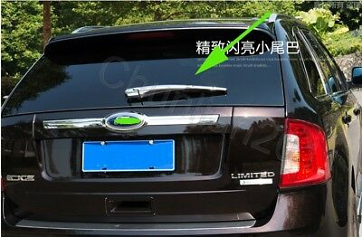 Chrome Tail Rear Window Wiper Cover Trim for 2009-2014 Ford Edge ABS