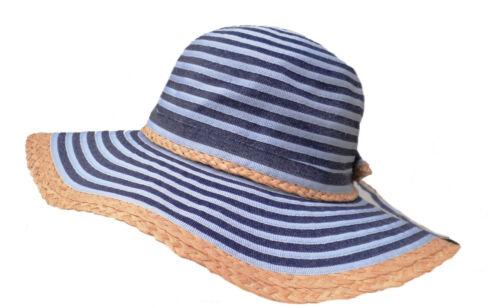 Damenhut Schlapphut in Blau rollbarer Kofferhut Urlaub Strand  Sonnenschutz