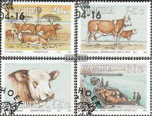 Honest Namibia 739-742 Fine Used Stamps Cancelled 1993 Simmentaler-cattle Africa