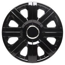 Torque 15 Inch Wheel Trim Set Gloss Black Set of 4 Hub Caps Covers - TopTech