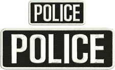 """DEA police Embroidery patches 4 X 10/"""" and 2x5 hook black letters"""