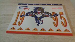 1995 Florida Panthers Team-Issued Calendar -  NHL Hockey - NR-MT