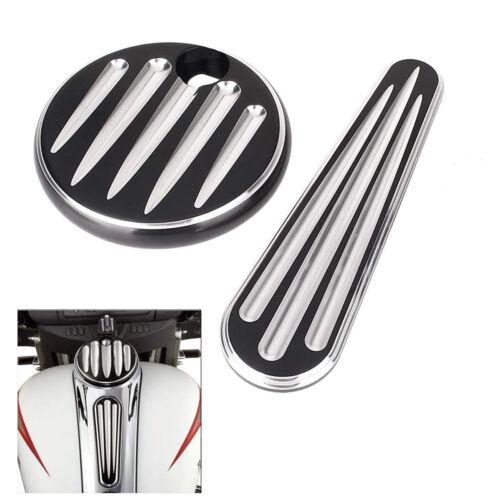 Fuel Door Tank Cover Dash Insert Kit For Harley Street Glide Road King Black