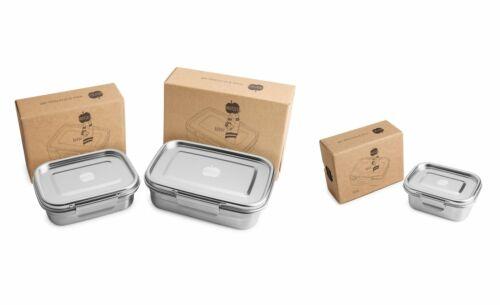 Brotzeit BUDDY dichte Brotdose Jausenbox aus Edelstahl in 3 Größen