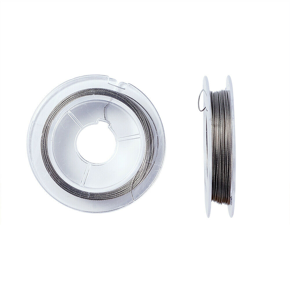 10 meters per spool Colored Tigertail .38 mm Wire 1386-black