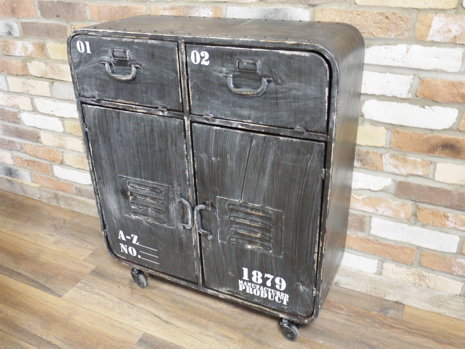 Industrial mesilla Vintage Cómoda Armario Vitrina de almacenamiento de mesilla Industrial de noche 87cabb
