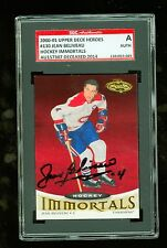 Jean Beliveau Autograph 2001 UD Heroes Card #130 Canadians SGC Authentic Encased