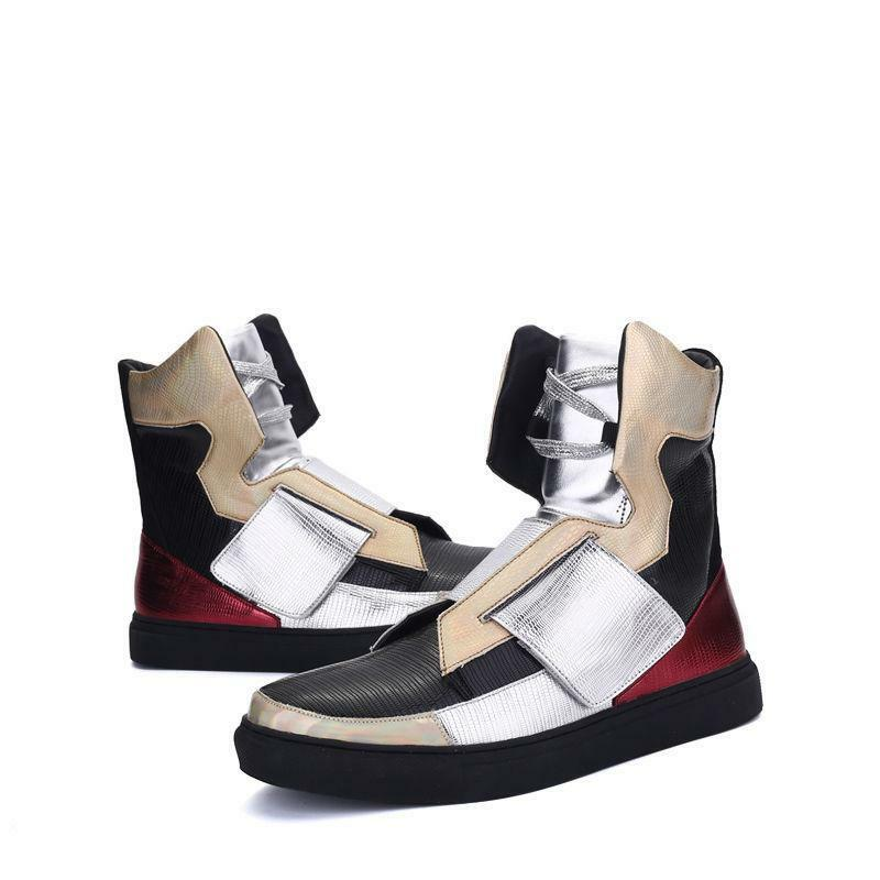 Stylish Men's Sneaker Casual Korean High Top Hip-hop Ankle Boots Punk shoes New