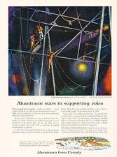 1958 Montreal Canada Aluminum Circus Act  Vintage Advertisement Print Ad J488