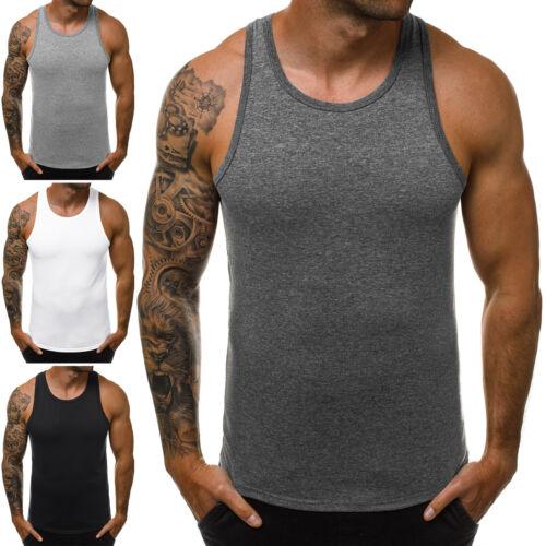 Tanktop T-Shirt Muskelshirt Training Fitness Basic Sommer OZONEE JS//99002 Herren