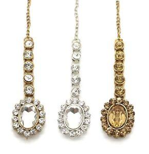 Kundan Stones Hair Headpiece Tikka Jhumar Head Jewellery Indian
