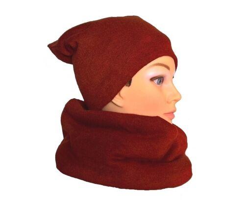 Damenmütze Wintermütze Loop Beanie Loopschal Mützen Set Schal Schalset