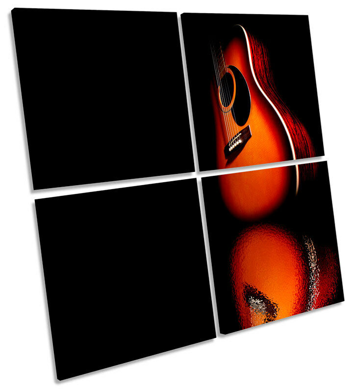 Guitar Musical Instrument MULTI CANVAS WALL ART Square Picture