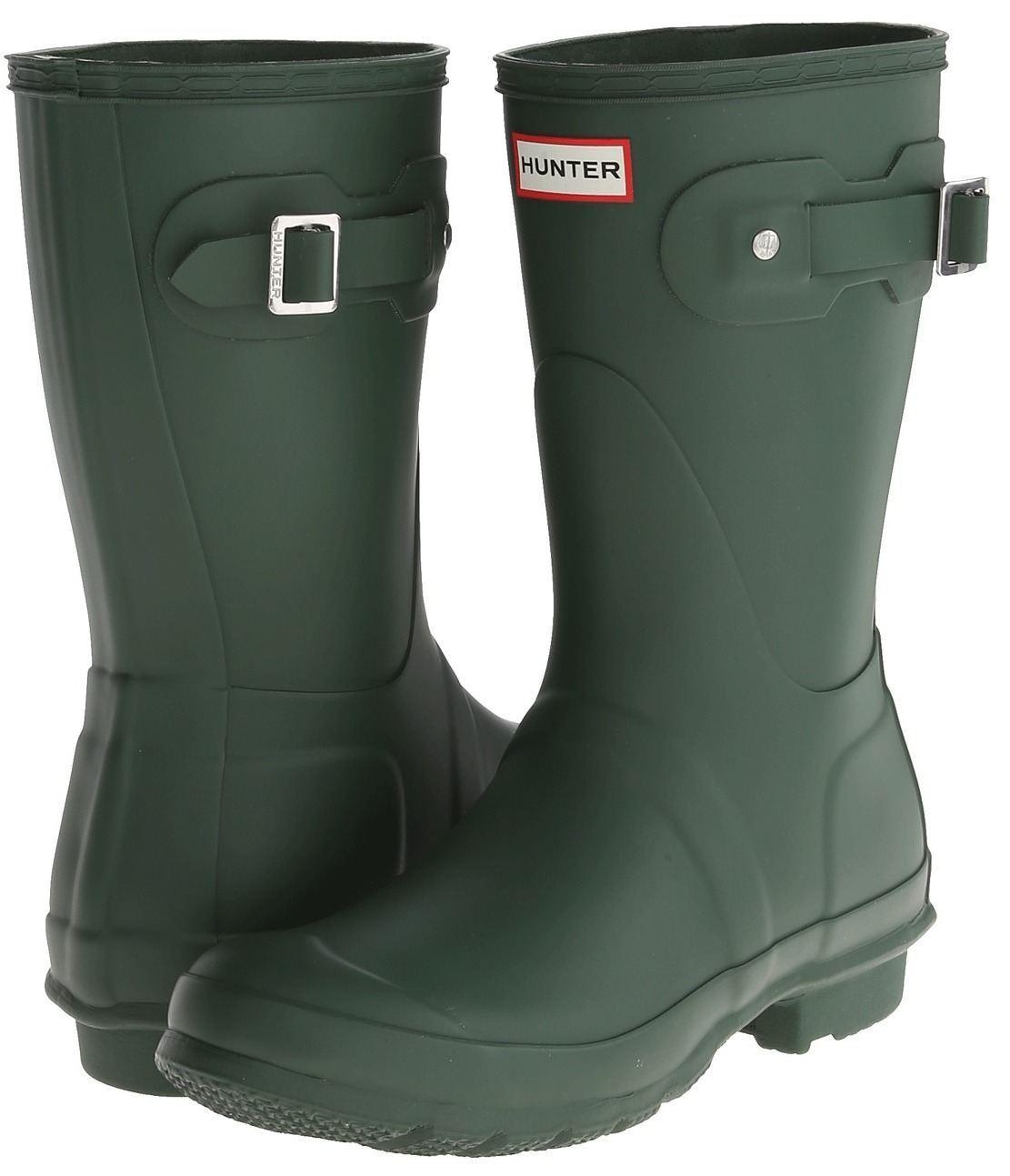 Hunter Original Corto botas Wellington Mujer Mujer Mujer verde oscuro  todos los bienes son especiales