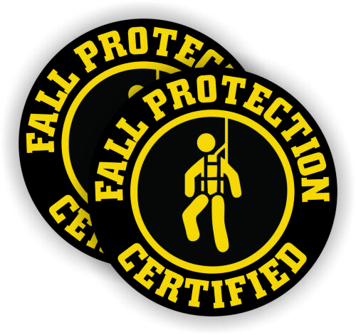 Fall Protection Certified Hard Hat Stickers PPE Safety Helmet Harness Decals YW