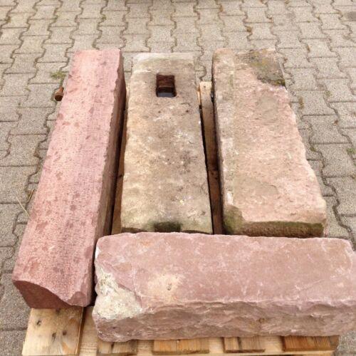 4 Buntsandstein Mauer Pfeiler Quader Tor Zaunpfosten Sandsteine Natursteine P 1
