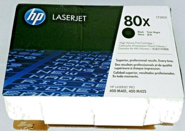 HP LaserJet 80X Black Print Cartridge CF280X LaserJet Pro 400 M401 M425