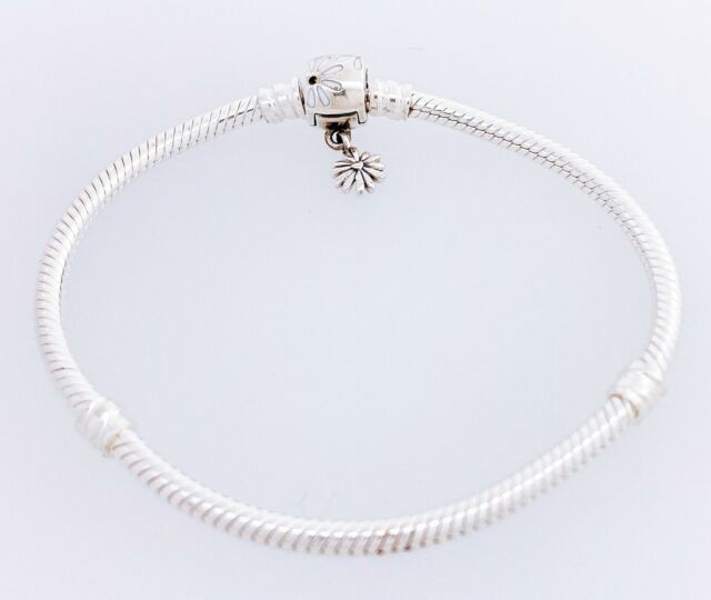 NEW Authentic PANDORA Moments Daisy Flower Clasp Snake Chain ...