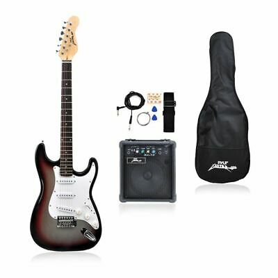 pylepro full size electric guitar package w amp guitar bundle case accessori 68888981118 ebay. Black Bedroom Furniture Sets. Home Design Ideas