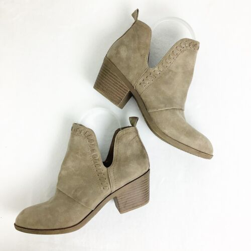 Rock & Candy Lipton Faux Suede Cutout Booties Size