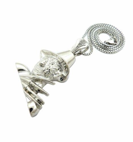 "Hip Hop NIGHTMARE FREDDY KRUEGER pendant /& 2mm 24/"" Box Chain Necklace"
