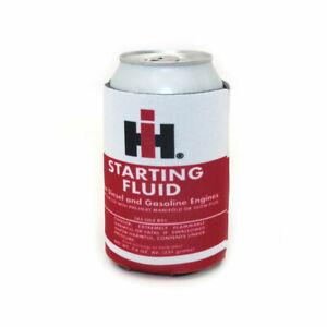 IH Logo Starting Fluid Red Collapsible Beverage Can Holder Sleeve IHG-Holder
