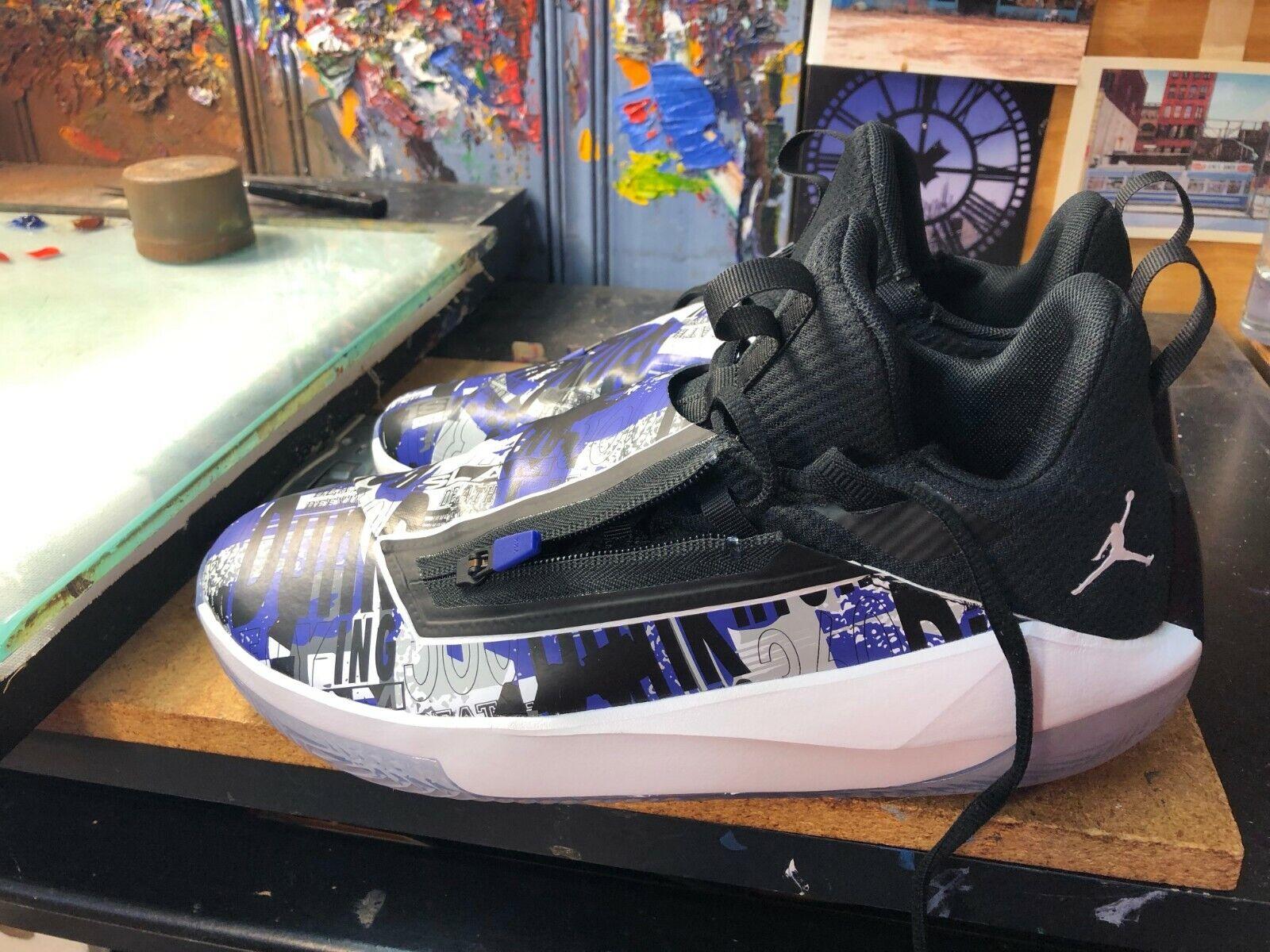 Nike Jordan Jumpman Hustle Dark Concord White Zipper SZ US 10.5 Men AQ0397 500