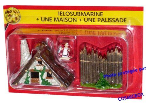 Le VILLAGE d/'ASTERIX n° 33 figurine IELOSUBMARINE poissonière une maison PLASTOY