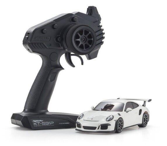Kyosho 32321w Mini-Z Mini-Z Mini-Z RWD Porsche 911 Gt3 Rs blancooo Coche Canasta Rtr  tiempo libre