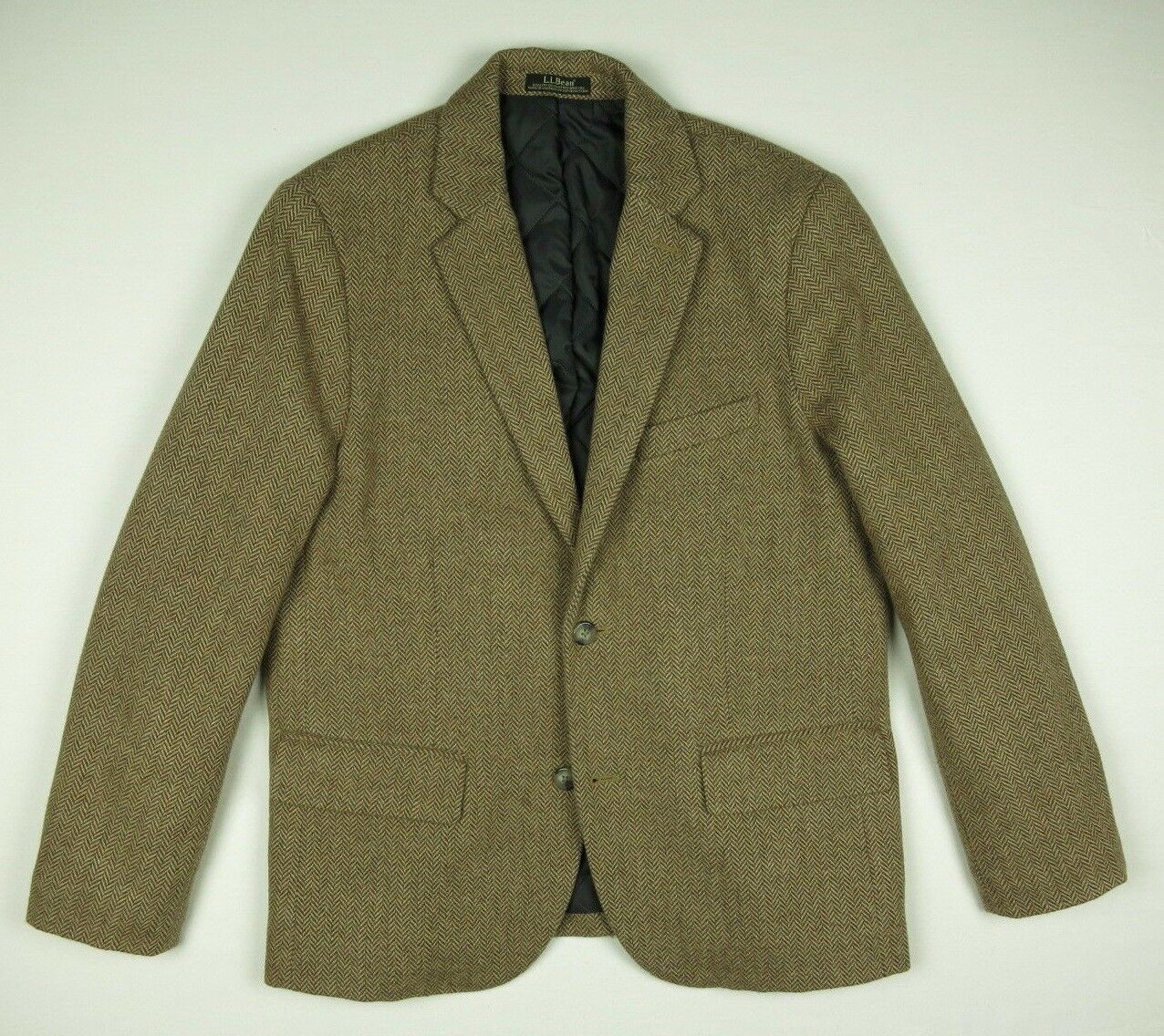 L.L. Bean Primaloft Insulated Herringbone Tweed Winter Sport Coat Men's 40S