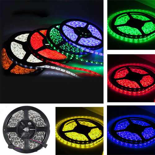 5M RGB 5050 300 LED SMD LED Flexible Strip Light 12V Non-Waterproof DIY Party