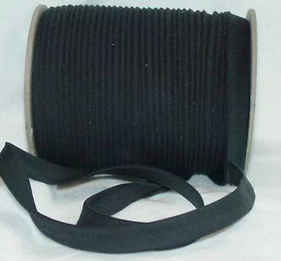 "BLACK Bias Tape Fabric Trim 1/2"" Double Fold 10yd"