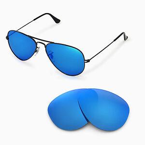 dd9201f38c Walleva Polarized Ice Blue Lenses 4 Ray-Ban Aviator Large Metal ...