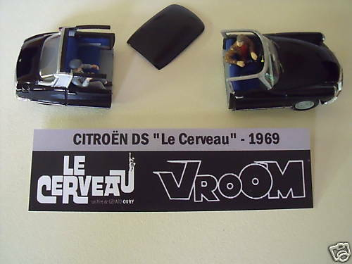 Citroen ds the brain cinema vroom painted kit 1 43 non monte no norev