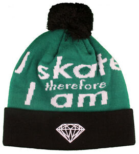 92f3337c13e Diamond Supply Co I Skate Therefore I Am Fold Black Green White Pom ...