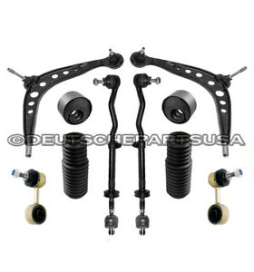 Front Control Arm Ball Joint Tie Rod Bushing Sway Bar Link Kit Set 10pc for E46