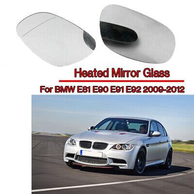 PAIR BMW 3-SERIES E90//E91 2004~2009 HEATED MIRROR GLASS+BASE LEFT/&RIGHT