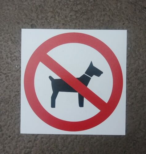 """#2 Set of 2 No Pets Dogs Allowed  Warning Sign Sticker Decal 6/""""x6/"""""""