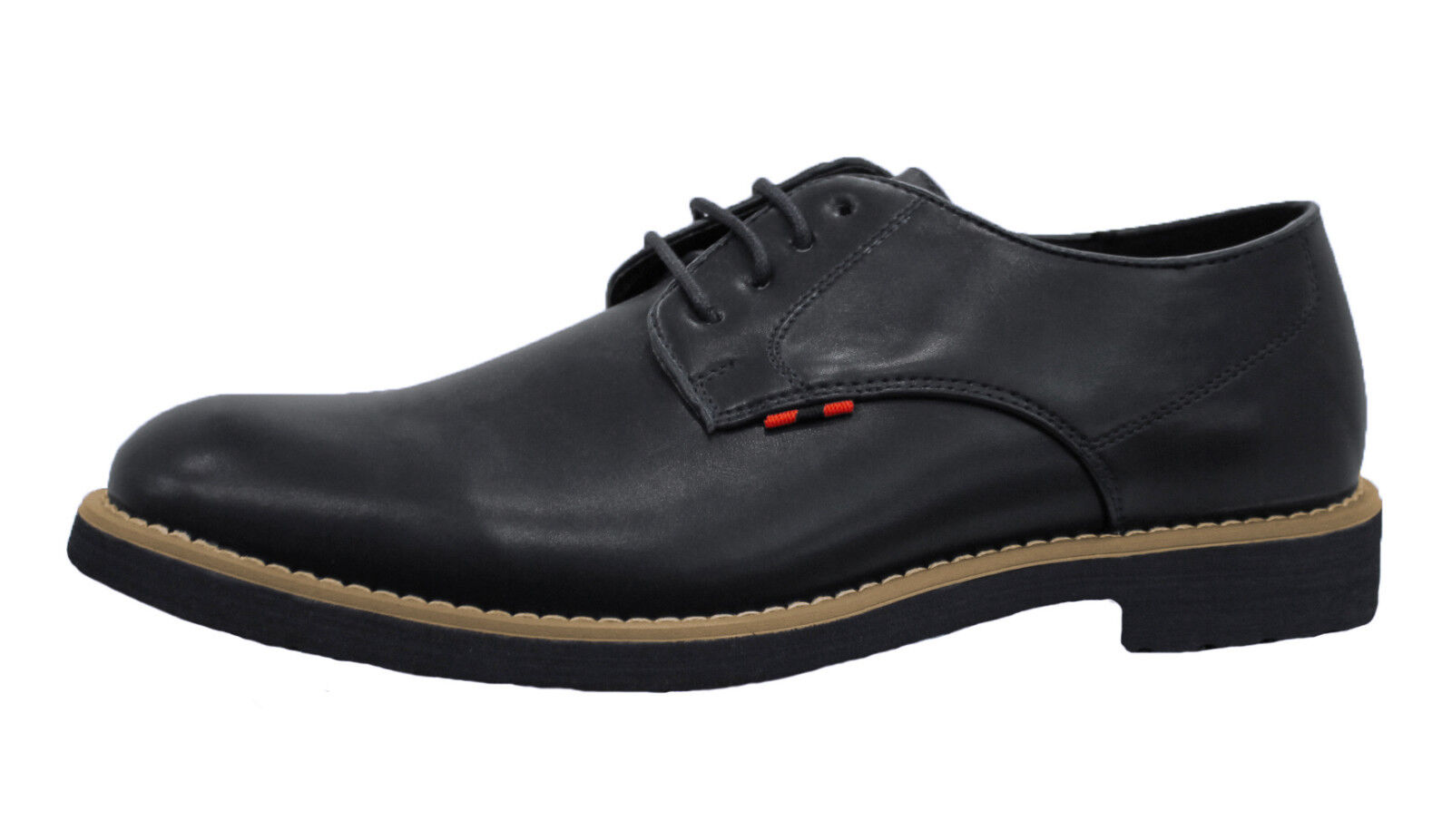 shoes men DIAMOND CASUAL black CUIR ÉCOLOGIQUE BOTTINES RICHELIEU ÉLÉGANT