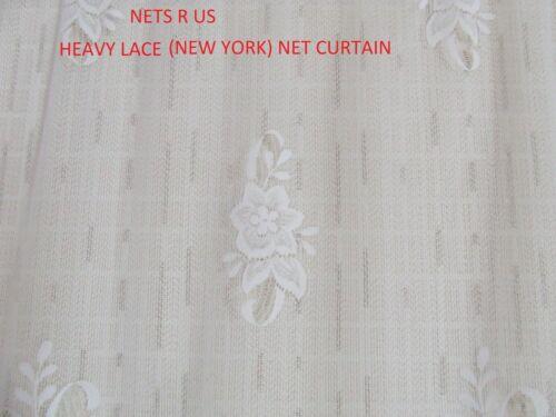 """137 cm Lourd dentelle filet rideau Drop 54/"""" vendu sur le Rouleau £ 5.00 par mètre"""