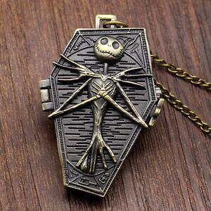 Tim-Burton-The-Nightmare-Before-Christmas-Jack-Skellington-Pocket-Watch-Necklace