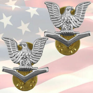 U-S-NAVY-PETTY-OFFICER-THIRD-CLASS-COLLAR-BADGES-PAIR-GENUINE-E4-OR4