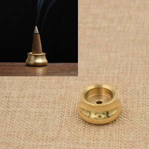Vintage-Cone-Plate-Censer-Tower-Brass-incense-Burner-Bowl-Holder-Temple-Puja