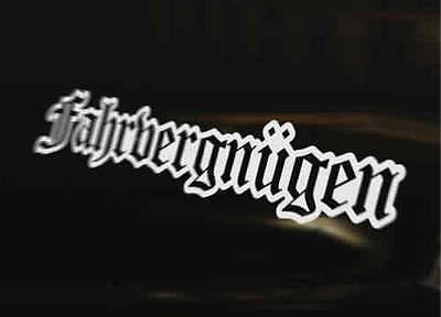 Fahrvergnugen Outline Vinyl Decal Car Bumper Sticker Gt Tdi Gti Vr6 Golf Polo Ebay Not #farfegnugen >> senior vw managers warned not to travel to u.s.: fahrvergnugen outline vinyl decal car bumper sticker gt tdi gti vr6 golf polo ebay