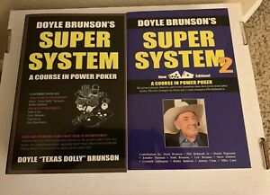 Doyle-Brunson-SUPER-SYSTEM-amp-SUPER-SYSTEM-2-Collection-Excellent-Condition
