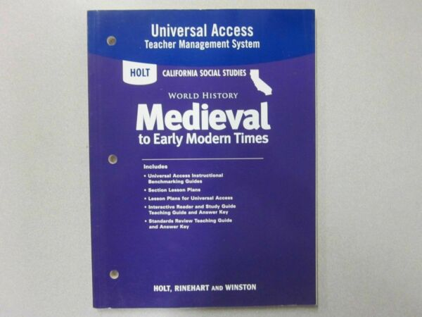 Holt World History Medieval Early Modern Times Universal Access 0030421535 For Sale Online EBay