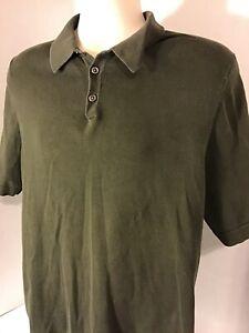 Eddie-Bauer-Green-Men-039-s-Short-Sleeve-Polo-Shirt-Pima-Cotton-Size-M